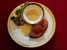 Neuseelindisches Rinderfilet mit Steinpilzen und Senf- und Gorgonzola- Sauce (Kriemhild Jahn) - Rezept