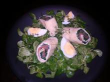 Lachsrolle auf Feldsalat - Rezept