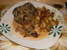 Geschmorte Rahm-Koteletts zu Bratkartoffeln - Rezept