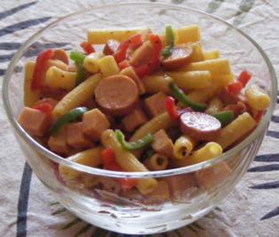 Bunter Nudel-Salat 1 - Rezept