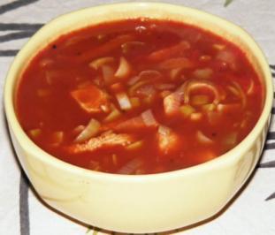 Chilibohnen-Putensteak-Lauch-Topf - Rezept