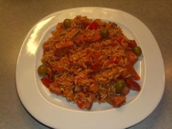 Mediterrane Reis-Pfanne - Rezept