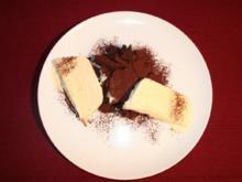Crostata di pere al cioccolata und Vanilleparfait - Rezept