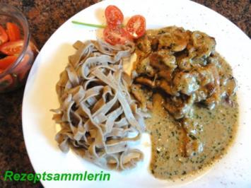 Fleisch:   GESCHNETZELTES in Zwiebel-Sahne-Sauce - Rezept