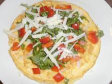 Rührei mit Rucola und Parmesan - Rezept