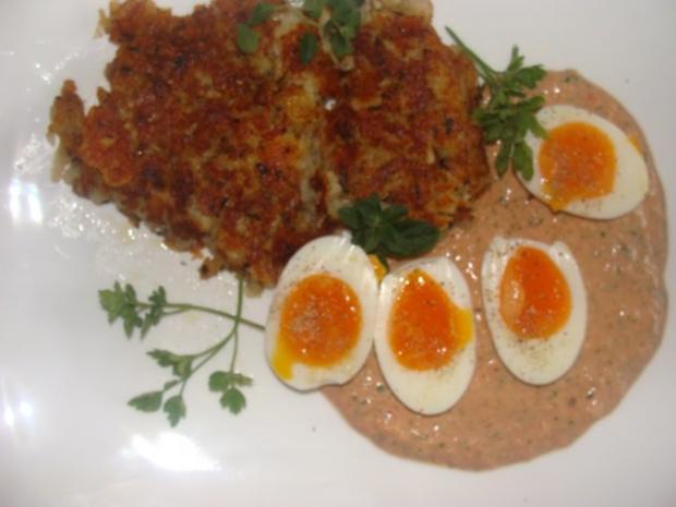Kräuter-Rösti aus gekochten Kartoffeln - Rezept