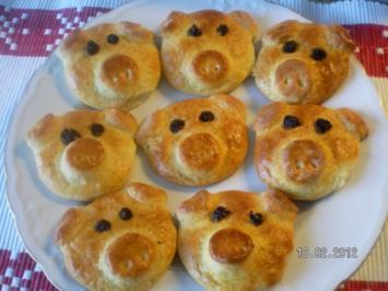 Kleine Glücksschweinchen - Rezept