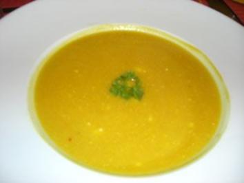 Kürbissuppe mit Lauch - Rezept