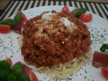Spaghetti  Bolonese aller Andy Norddeutsche Art.....mit einem hauch Italia...Grana Padano - Rezept