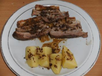 Fleisch: Schweinebauch, geschmort - Rezept