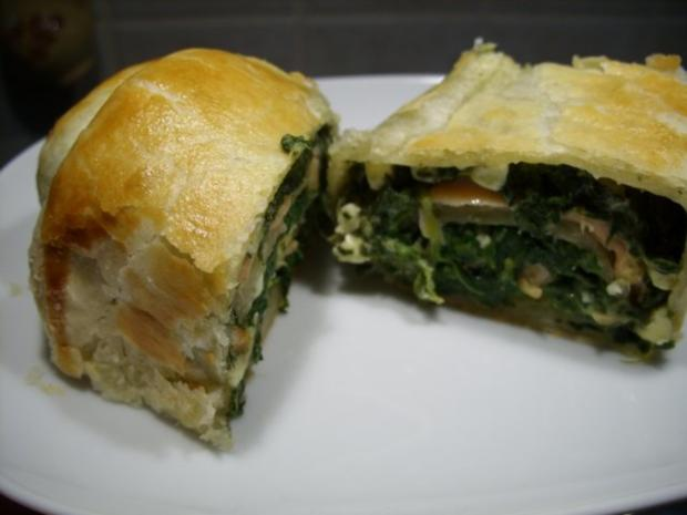 Spinat-Lachs-Rolle - Rezept