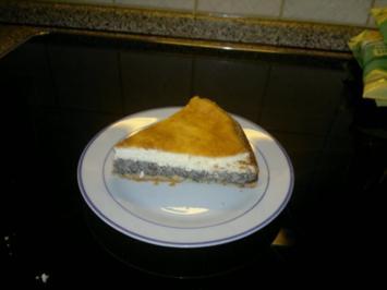 Mohnkuchen mit Crème fraîche - Rezept