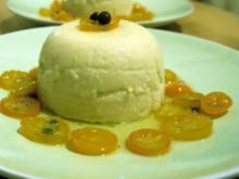 Marzipanpudding mit Karamell-Kumquats - Rezept