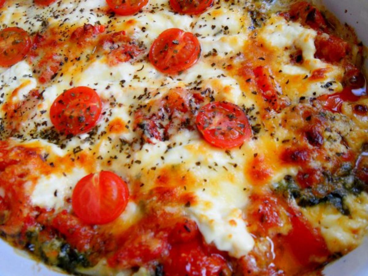 vegetarische lasagne mit spinat und tomaten rezept. Black Bedroom Furniture Sets. Home Design Ideas
