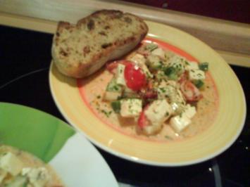 Fetasalat mit Gurke und Tomate - Rezept