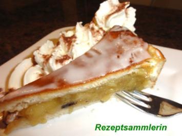 Hefe:   APFELTORTE gedeckt mit Zitronenguß - Rezept