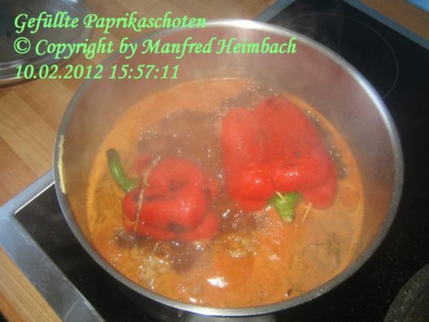 Hackfleisch - Manfred's herzhaft gefüllte Paprikaschoten - Rezept - Bild Nr. 2