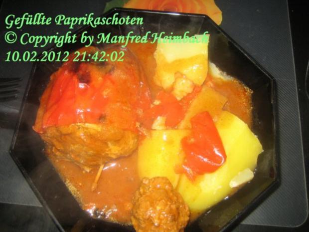 Hackfleisch - Manfred's herzhaft gefüllte Paprikaschoten - Rezept - Bild Nr. 3