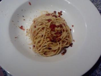 Spaghetti Prosciutto molto picante a la Andy - Rezept