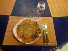 Fleisch: Schweinefleisch unter Gemüsehaube - Rezept