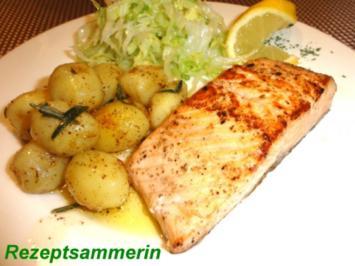Fisch:    LACHSFILET an Rosmarindrillinge - Rezept