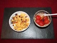 Polenta-Schmarrn mit Kirschtomatenkompott - Rezept