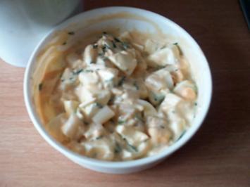 Schnittlauch-Eiersalat mit Spargel - Rezept