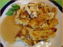 Kartoffelpuffer mit Ei  und Salat - Rezept