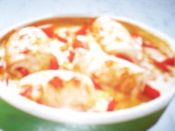 Ofen Schnitzel mit Paprika Sahne - Rezept