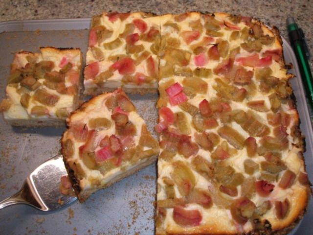 Backen Rhabarber Quark Kuchen Rezept Kochbar De