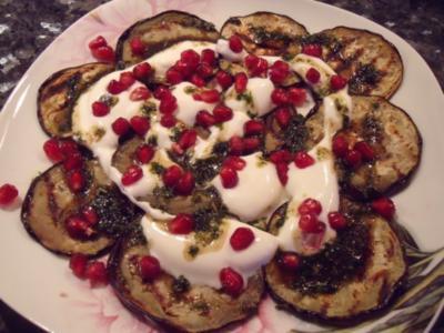 Vorspeise: Auberginen-Granatapfel-Salat - Rezept
