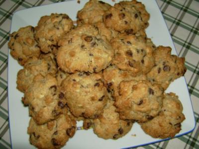 Cashew-Schoko-Cookies - Rezept