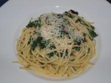 Spaghettini mit Rucola     (Spaghettini alla rucola) - Rezept
