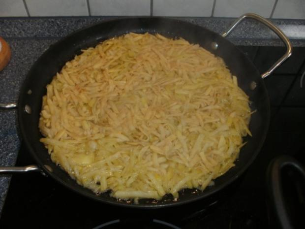Kartoffel-Rösti mit Champignon-Lauch-Gemüse - Rezept - Bild Nr. 2
