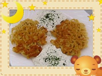 Spaghetti-Puffer mit Kräuterquark - Rezept