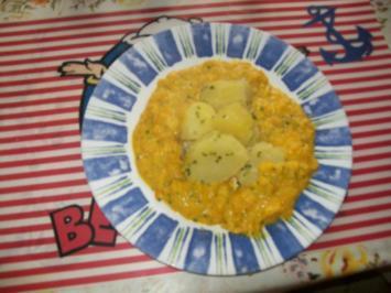 Kürbis- Ingwer- Püree mit Petersilienkartoffeln - Rezept
