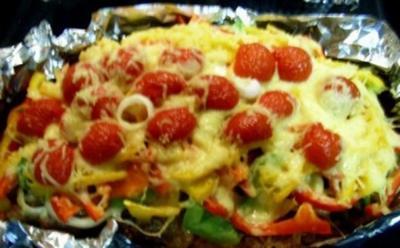 Pizza-Hackbraten - auch Party - Rezept