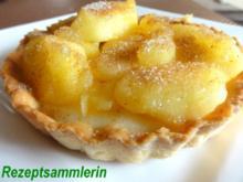 Mürbeteig:   TARTELETTS mit Honig-Zimt-Äpfeln - Rezept