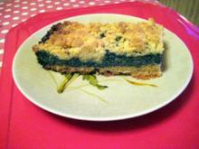 Mohnkuchen mit Steusel - Rezept
