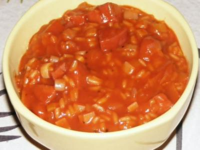 Lauch-Reis-Sucuk-Topf - Rezept
