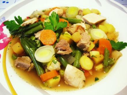 Gemüsesuppe mit Huhn und Lamm ... - Rezept