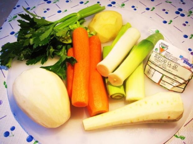 Gemüsesuppe mit Huhn und Lamm ... - Rezept - Bild Nr. 2