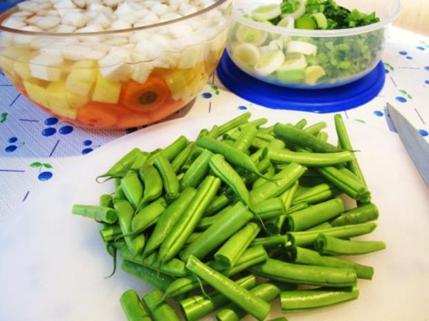 Gemüsesuppe mit Huhn und Lamm ... - Rezept - Bild Nr. 4