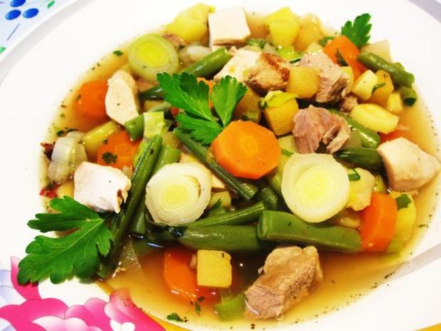 Gemüsesuppe mit Huhn und Lamm ... - Rezept - Bild Nr. 7