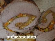 Zwiebel-Apfel Rollbraten - Rezept