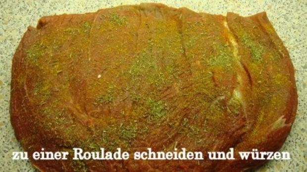 Zwiebel-Apfel Rollbraten - Rezept - Bild Nr. 4