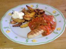 Zigeunerwurst mit Kartoffelspalten - Rezept