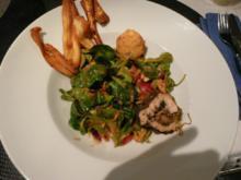 Salat / Feldsalat mit gebackenem Ziegenkäse - Rezept