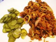 Bratreis mit Fleisch vom Grillhähnchen - Rezept