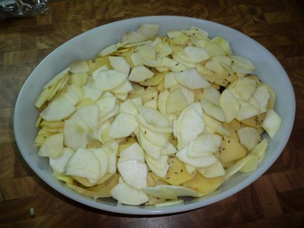 Kammkotelett , Kartoffel - Gratin - Rezept - Bild Nr. 4
